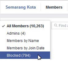 Unblock Account from Group Facebook