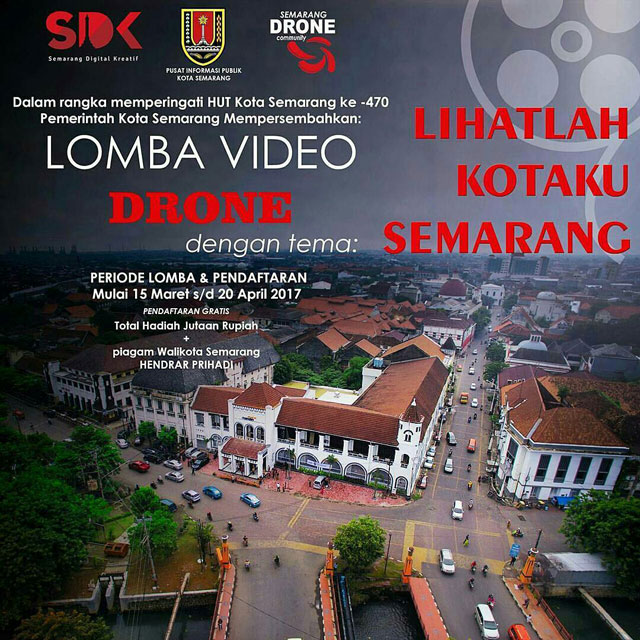 Lomba Video Drone HUT Semarang 470th