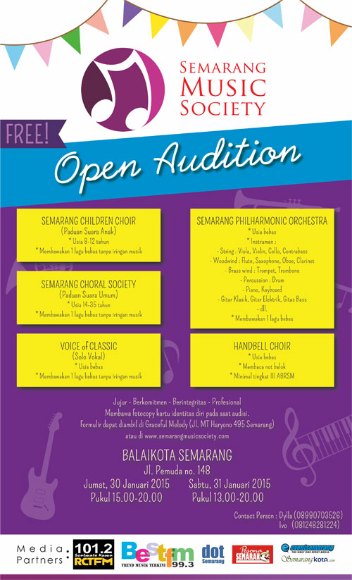 Semarang Music Society Open Audition 2015 - Balaikota Semarang