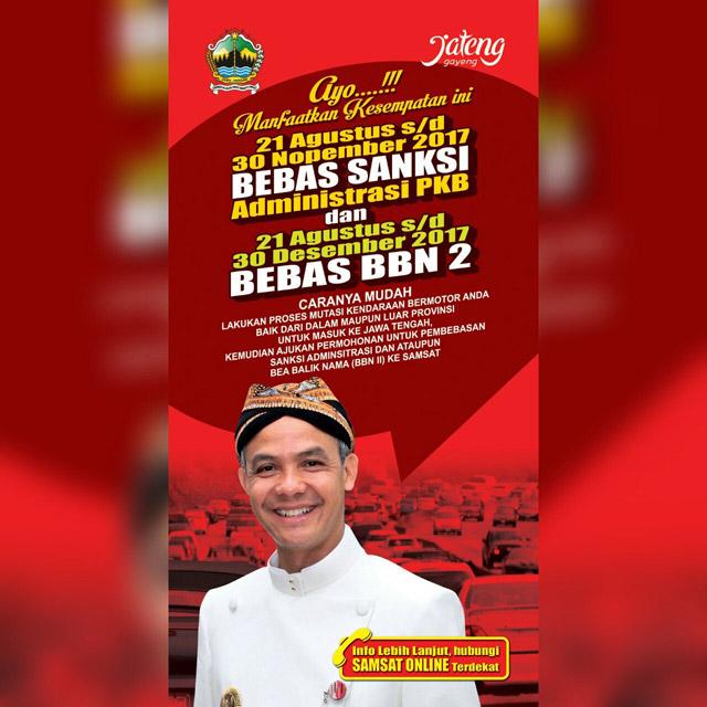 Bebas Sanksi PKB & Bebas BBN2 Provinsi Jawa Tengah