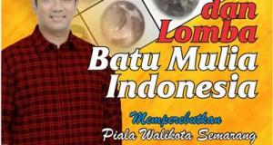 Pameran dan Lomba Batu Mulia Indonesia - Pasaraya Sriratu Semarang