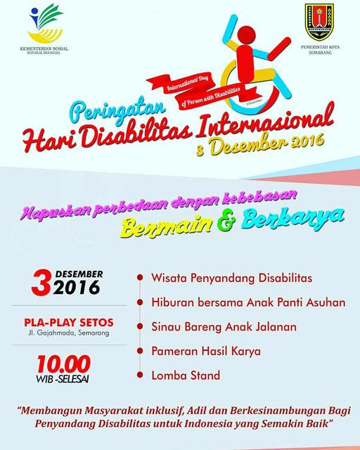 Peringatan Hari Disabilitas Internasional 2016 - Semarang
